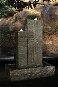 "Granitbrunnen ""Twinto"" 102x80x46 cm mit LED Beleuchtung"