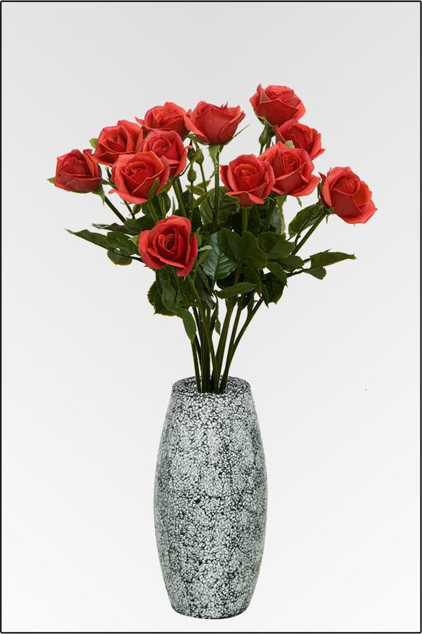 blumenstrau rosen ca 60 cm rot aus kunststoff g nstig kaufen bei. Black Bedroom Furniture Sets. Home Design Ideas